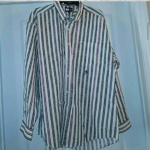 Tommy Hilfiger white with stripes button down